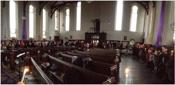 Christingle service at St Peter's Bethnal Green